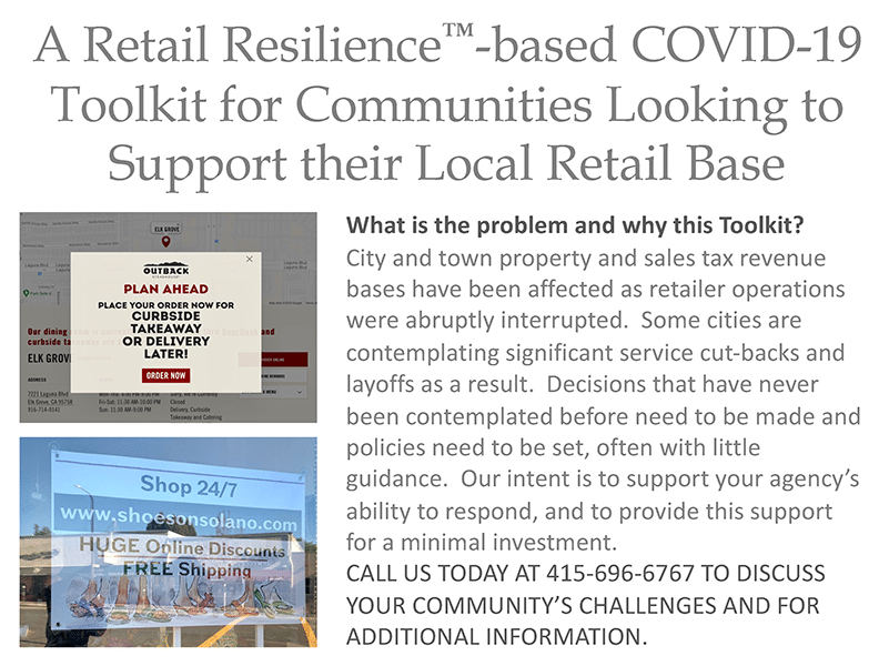 A Retail Resiliance-based COVID-19 Toolkit